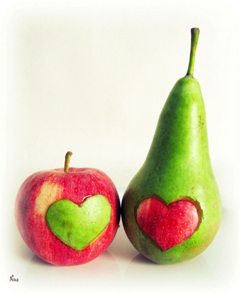 fruits-fruit-food-pear-apple-hearts-love-decoration-green-red_large