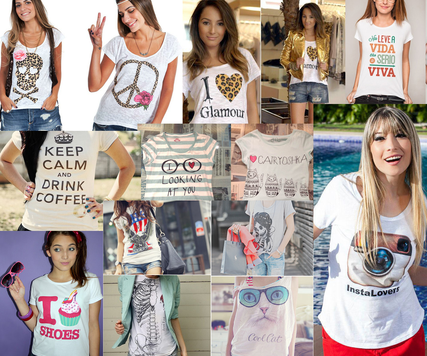 0e98d1169 DICA  A moda agora é T-Shirt – Fabi Santina
